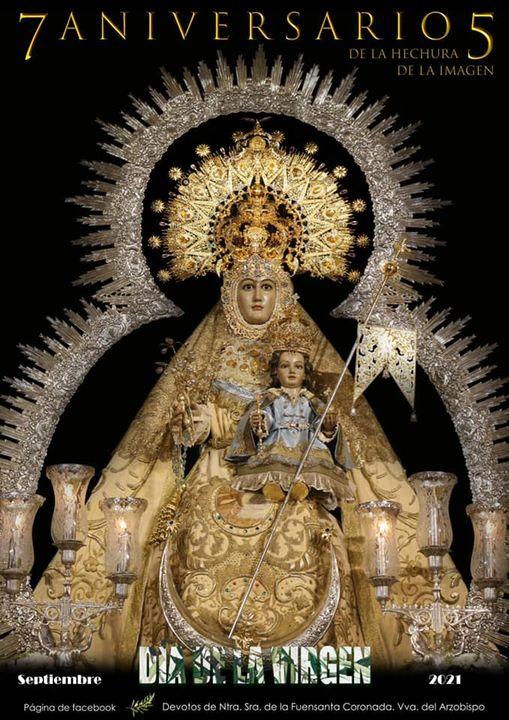 Cartel Fiestas en Honor a Nuestra Excelsa Patrona y Alcaldesa Perpetua, la Santísima Virgen de la Fuensanta Coronada 2021