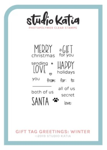 Studio Katia - GIFT TAG GRETTINGS: WINTER