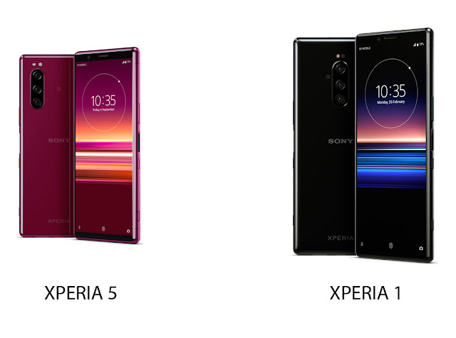 Sony Xperia 1 dan 5. Foto: Sony Mobile Edited by Ladangtekno