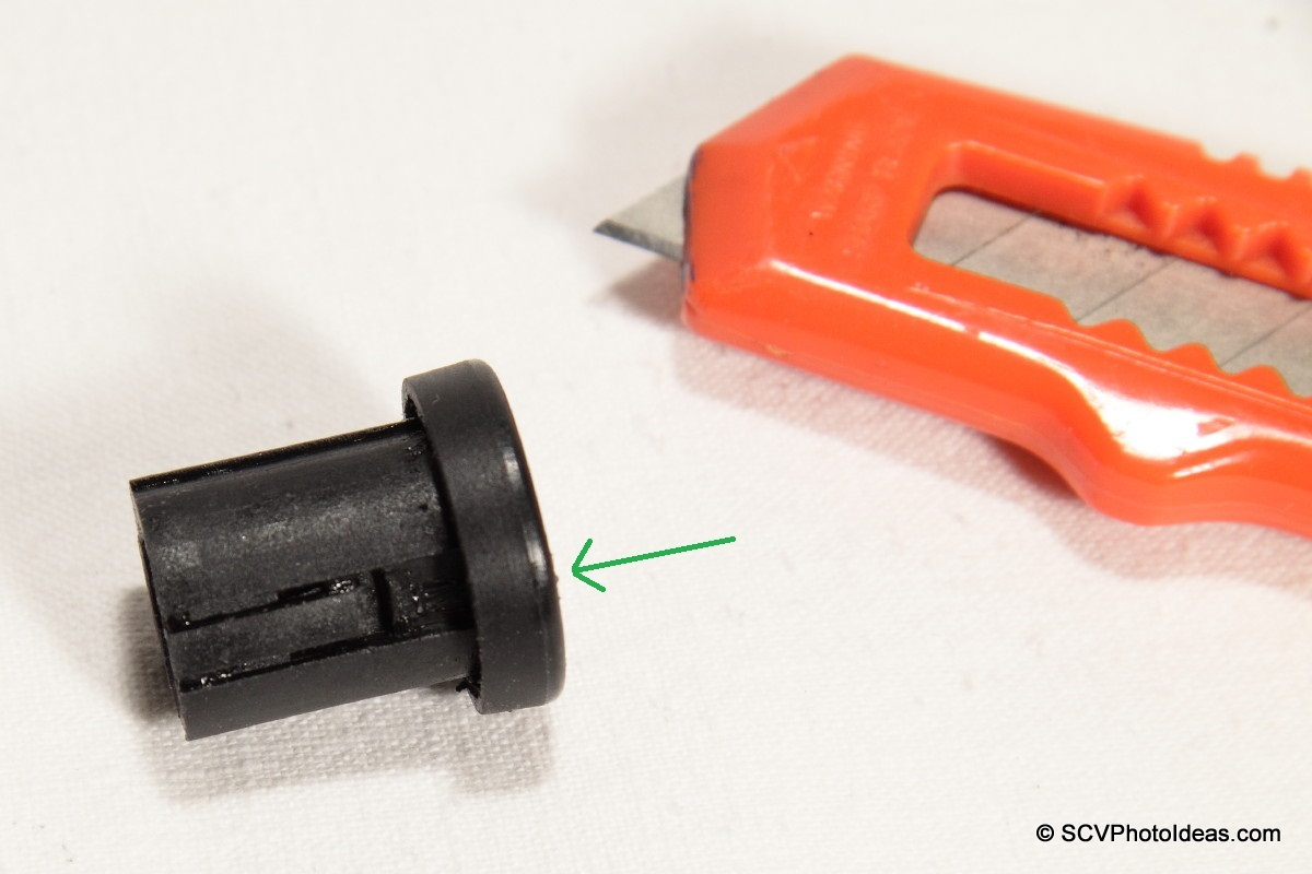 Plastic cylinder security peg fixing