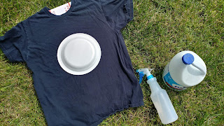 DIY solar eclipse t-shirt