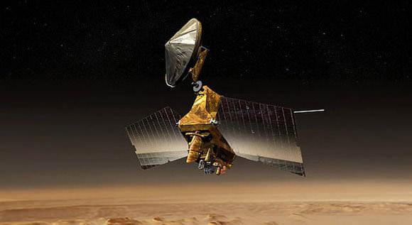 Ilustração artística da sonda Mars Reconnaisance Orbiter - NASA