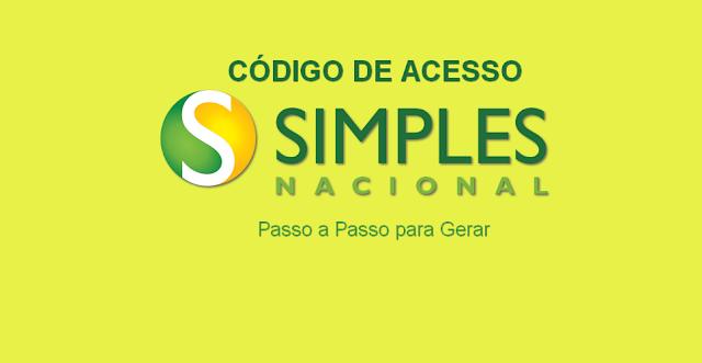 Como criar o código de acesso do Simples Nacional