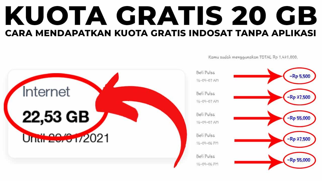 20 Cara Mendapatkan Kuota Gratis Indosat Tanpa Aplikasi Terbaru Klikdisini Id