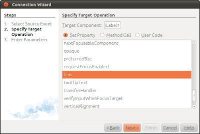 Specify Target Operation