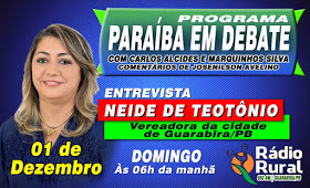 Vereadora Neide de Teotônio será entrevistada no PARAÍBA EM DEBATE de domingo (01) na Rádio Rural de Guarabira.