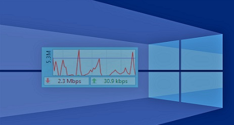 شرح عرض سرعه الانترنت على سطح مكتب الكمبيوتر