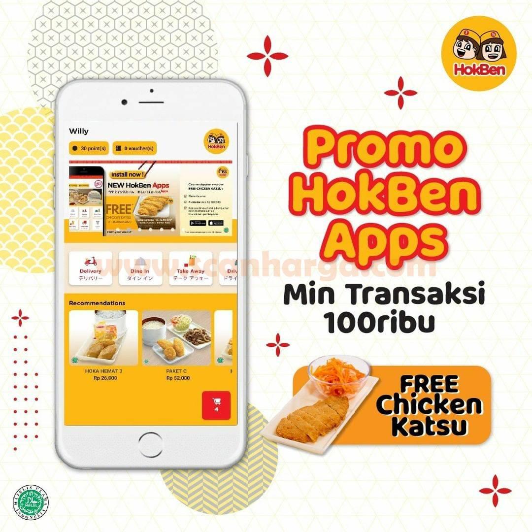Hokben Promo Gratis Chicken Katsu Melalui Hokben Apps*