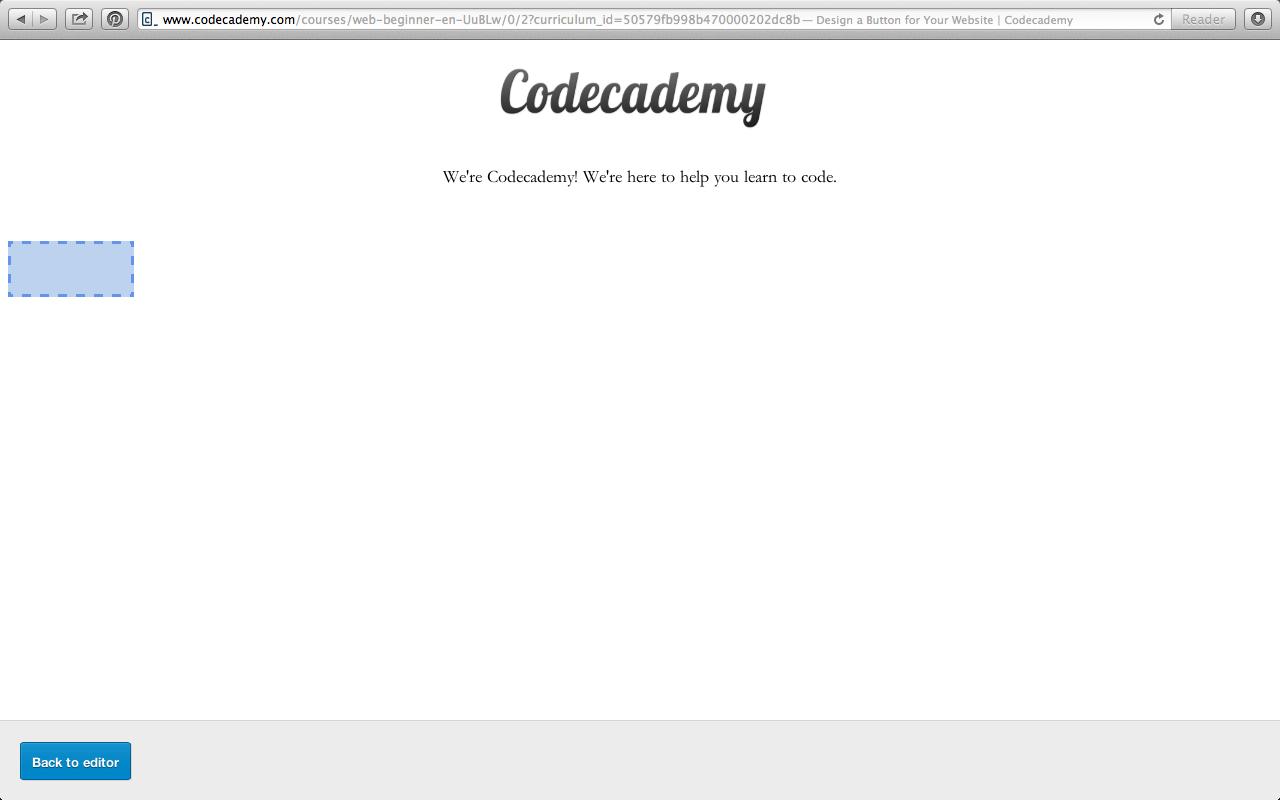 Nadia Larashari Shabrina: Codecademy | HTML & CSS: Design a Button