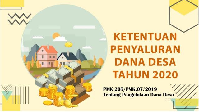 Peraturan Menteri Keuangan RI Nomor 205/pmk.07/2019 Tentang Pengelolaan Dana Desa