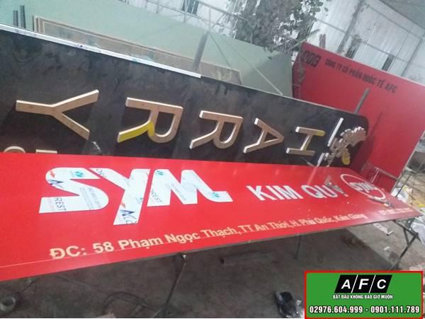 Làm Bảng hiệu bạt Hiflex Phụ Tùng xe Kim Quý tại Phú Quốc