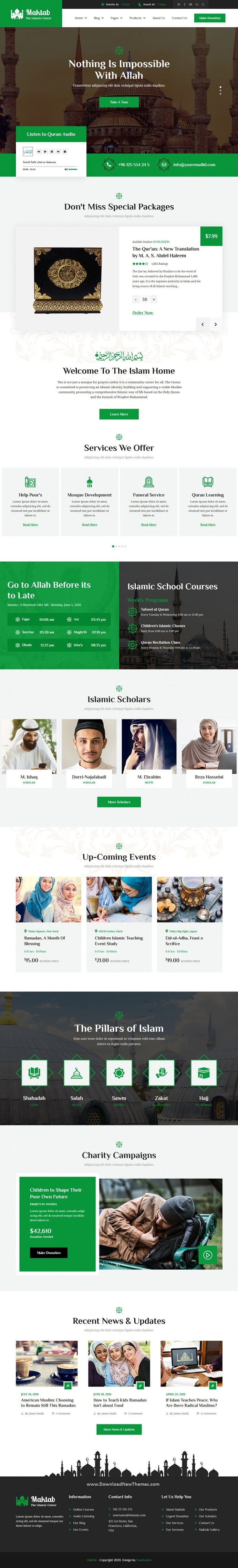 Islamic Institute Responsive HTML Template