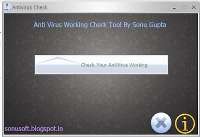AntiVirus Check tool 1