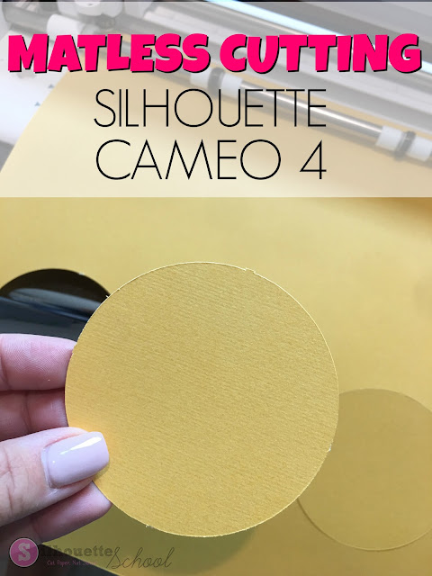 silhouette 101, silhouette america blog, matless cutting, cameo 4, cutting without mat