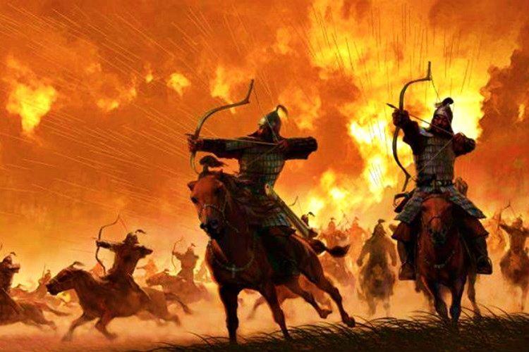Celaleddin Harzemşah savaşı kaybettiğini anlayınca kendisini İndus nehrinin kollarına bıraktı.