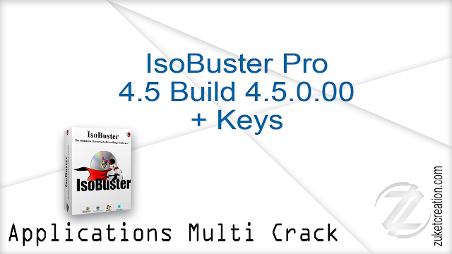 IsoBuster Pro 4.5 Build 4.5.0.00 + Keys