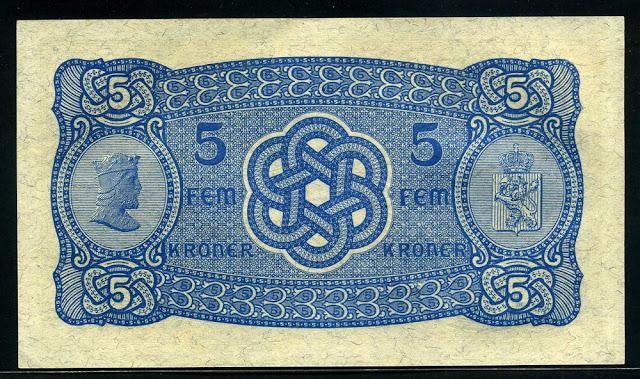 Norway bill 5 Kroner
