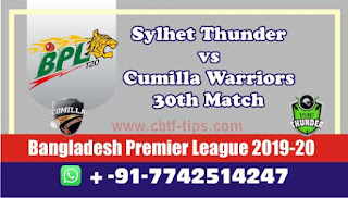 Who will win Today BPL T20, 30th Match Comilla vs Sylhet - Cricfrog