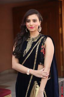 Priyanka Ramana in Beautiful Designer Black Saree At We Craft Elegance Expo Launch 059.JPG