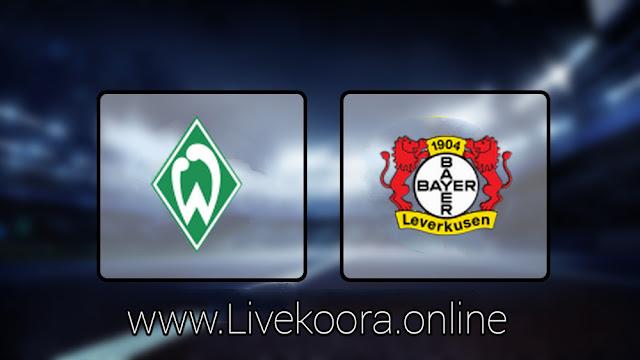 مشاهدة مباراة باير ليفركوزن وفيردر بريمن بث مباشر اليوم 18-05-2020 الدوري الالماني