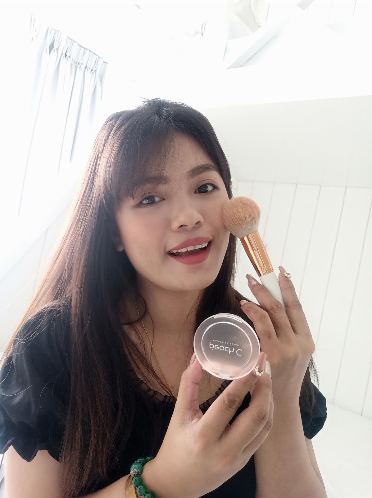 BEAUTY BY PEACH COTTON BLUSHER REVIEW (PEONY P CHEEK)