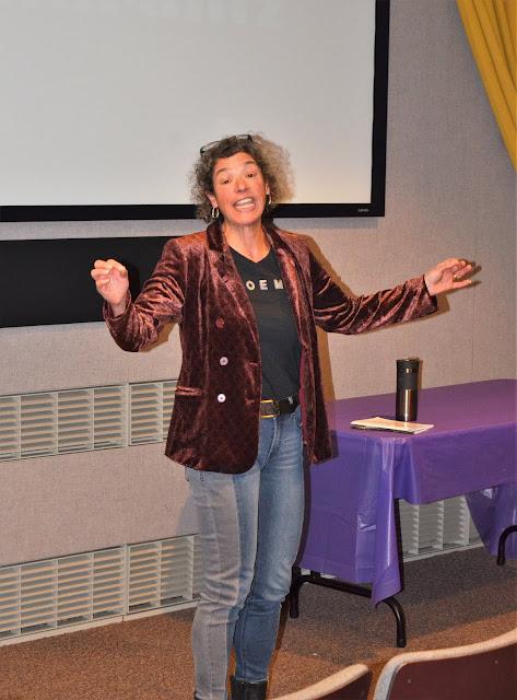 Karen Fairis featured poet aaduna Fierce! poetry reading November 10 2018