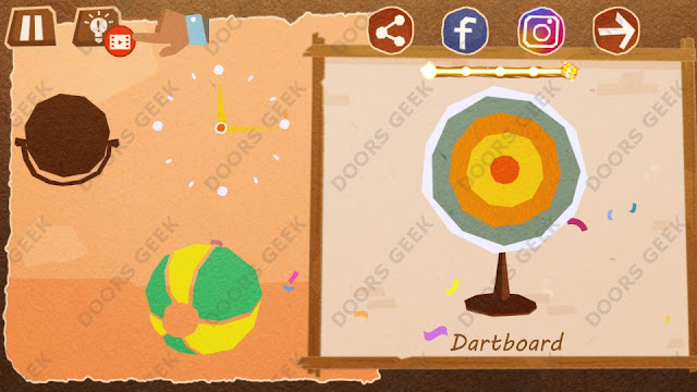Chigiri: Paper Puzzle Apprentice Level 31 (Dartboard) Solution, Walkthrough, Cheats