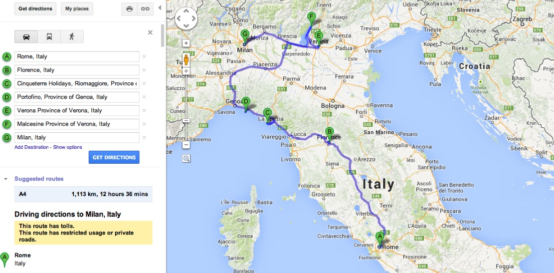 Verden Rundt Roadtrip I Norditalien