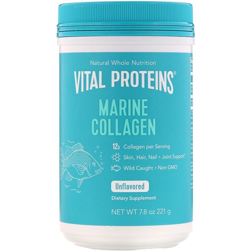 Vital Proteins, Морской коллаген из дикой рыбы, без добавок, 221 г (7,8 унции)