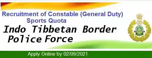 ITBP Constable Sports Quota Recruitment 2021