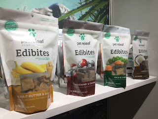 Edibites treats use CBD oil. It's supposed to help pets with several issues.