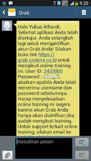 SMS Online Training Grab