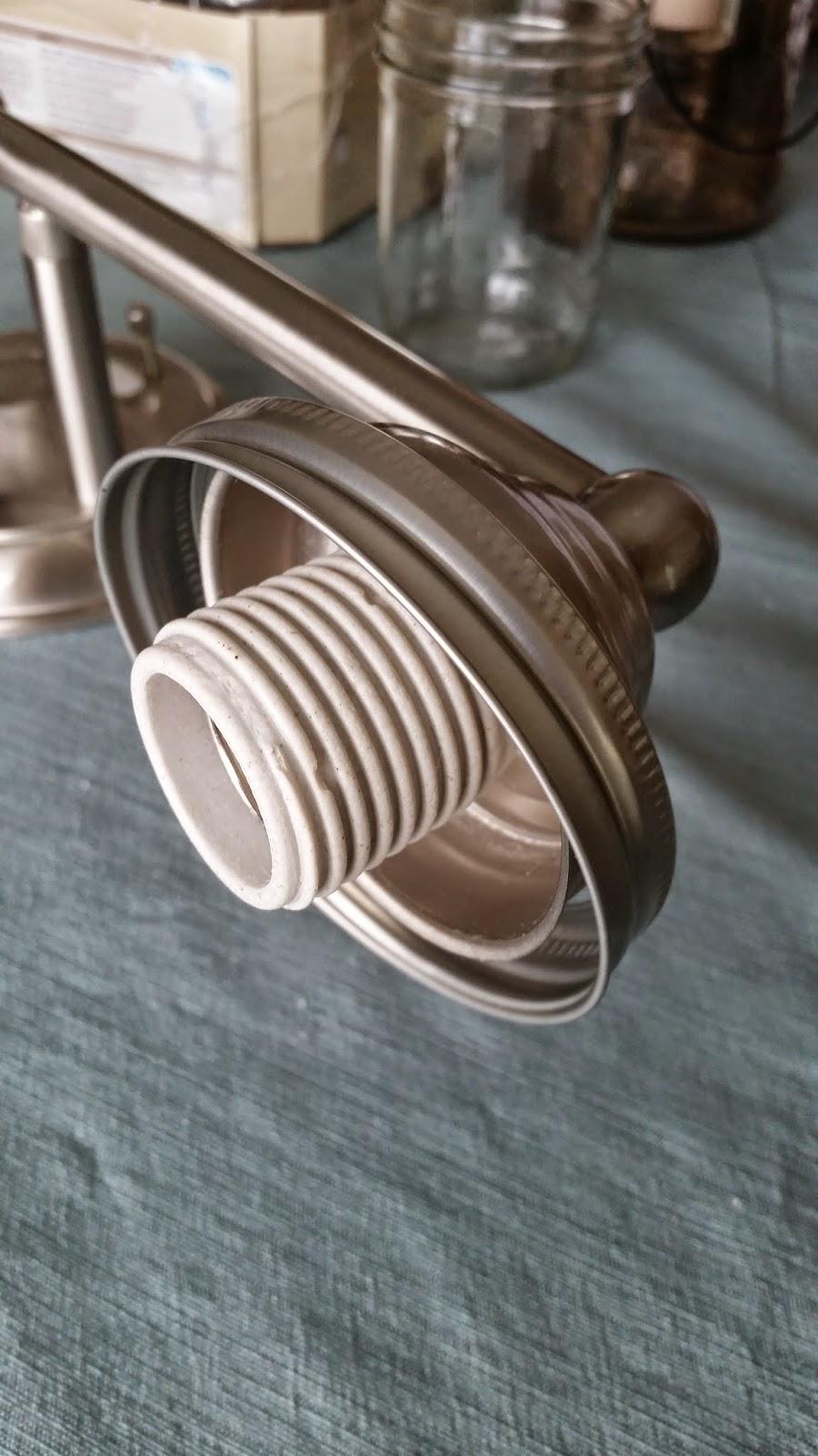 Mason Jar Chandelier Wire The Keyless Light Socket