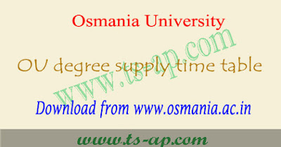 OU degree supply time table 2018-2019 pdf, Results