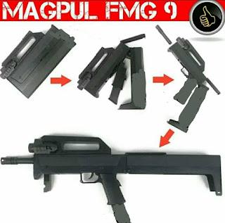 Review Airsoft Gun Spring Magpul Fmg 9 Lipat, 1 X Kokang 1 X Tembak
