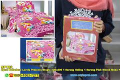 Sprei Belladona Lovely Princess Single 120×200 1 Sarung Guling 1 Sarung Pink Merah Muda Kartun Anak Remaja Katun CVC