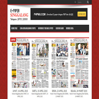 Script PHP Untuk Bikin Web Aplikasi E-paper Untuk Koran Digital
