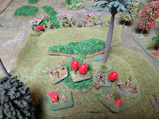 The Australians cause heavy casualties on the attacking Japanese