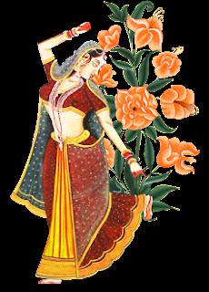 Rajputana Painting for Textile Use 2823