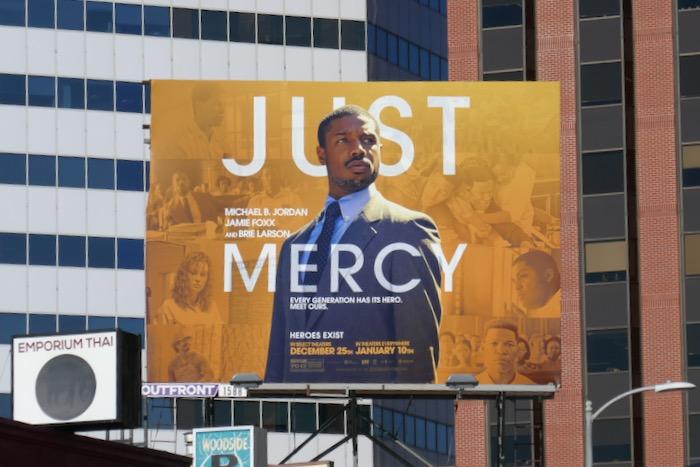 Just Mercy film billboard
