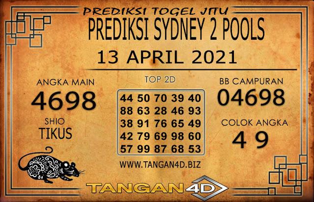 PREDIKSI TOGEL SYDNEY2 TANGAN4D 13 APRIL 2021