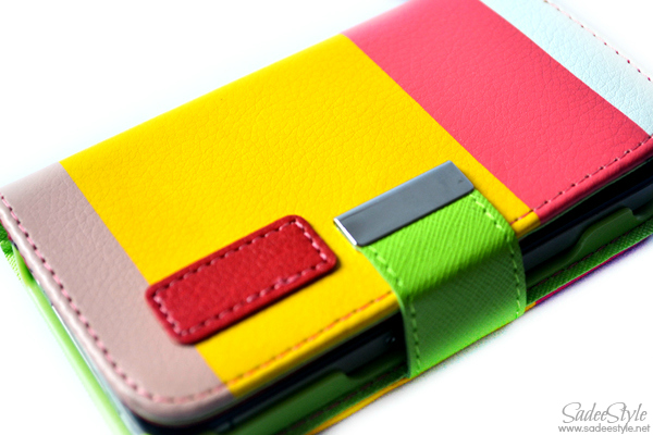 Protective Colorful PC and PU Leather Flip-Open Stand Case Cover for iPhone 4/4S (Yellow + Red)