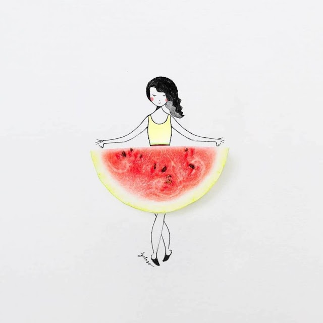 Creative Artist Hijacks Fruits and Vegetables to Create Adorable Illustrations