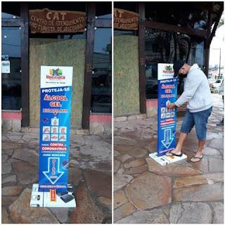 Prefeitura de Ibicoara instala dispensers