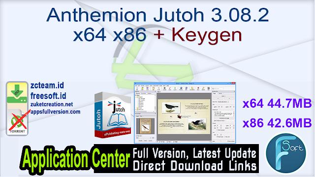 Anthemion Jutoh 3.08.2 x64 x86 + Keygen