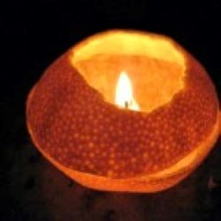Learn the tricks that make you make an oil lamp with natural orange in a minute