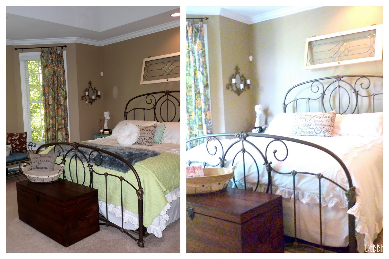 Pottery Barn inspired Master Bedroom Shabby chic style