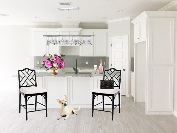 White and chrome kitchen inspiration for a new home build | via monicawantsit.com