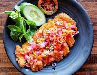 Gambar Masakan chicken katsu sambal matah