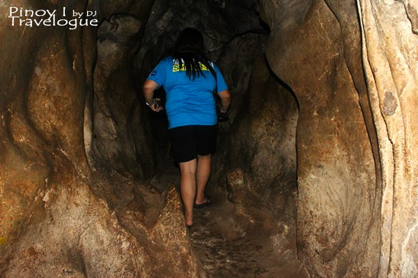 Narrow passages of Calinawan Cave